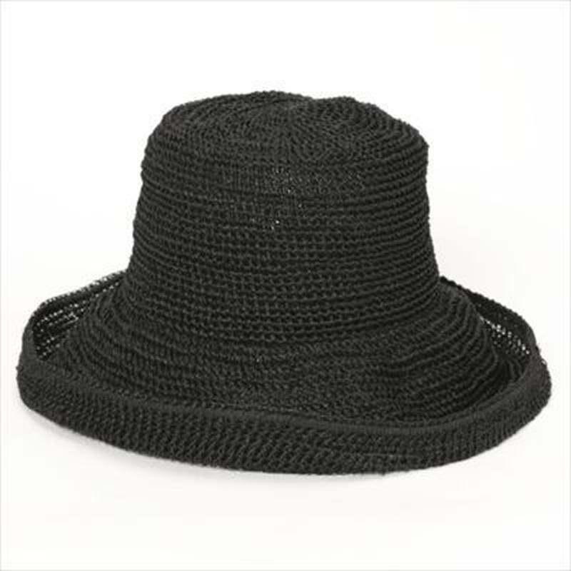 <YH027F> ABACA HAND CROCHET HAT