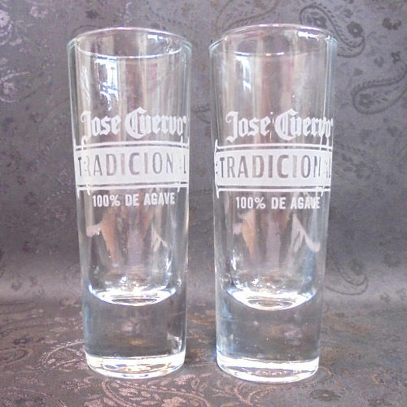 Tequila Long Shot Glass ~Jose Cuervo TRADICIONAL~(2個セット)