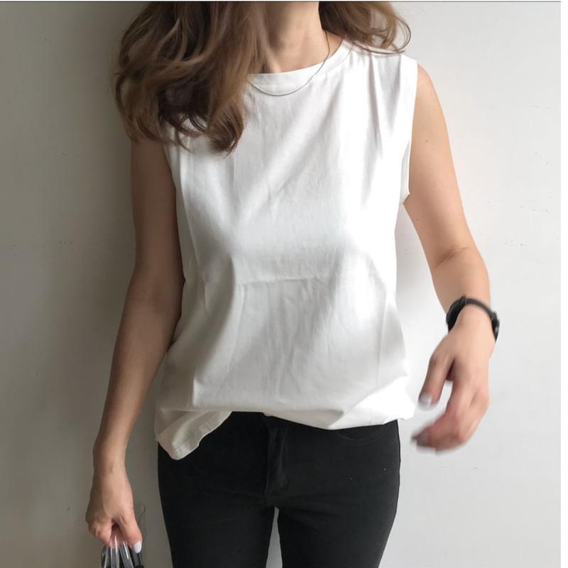 《再販》sleeveless tops