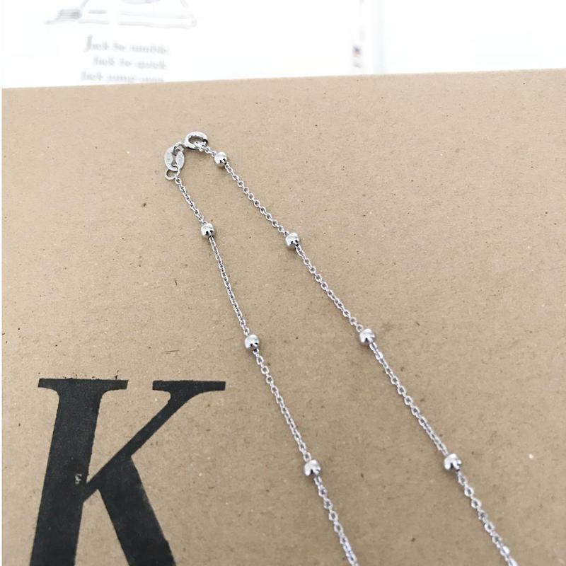 【送料込】silver 925  ball chain necklace