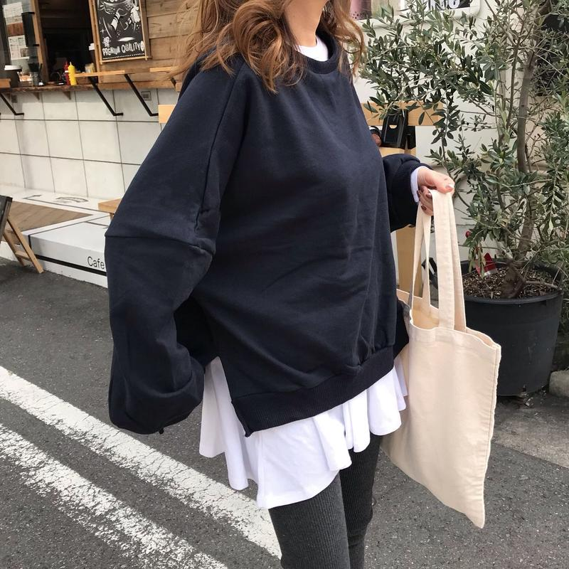 【アウトレット】フレアロングTシャツ