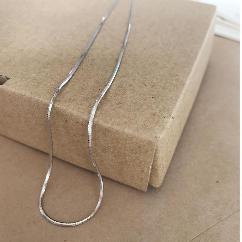 【送料込】silver 925 snake chain necklace
