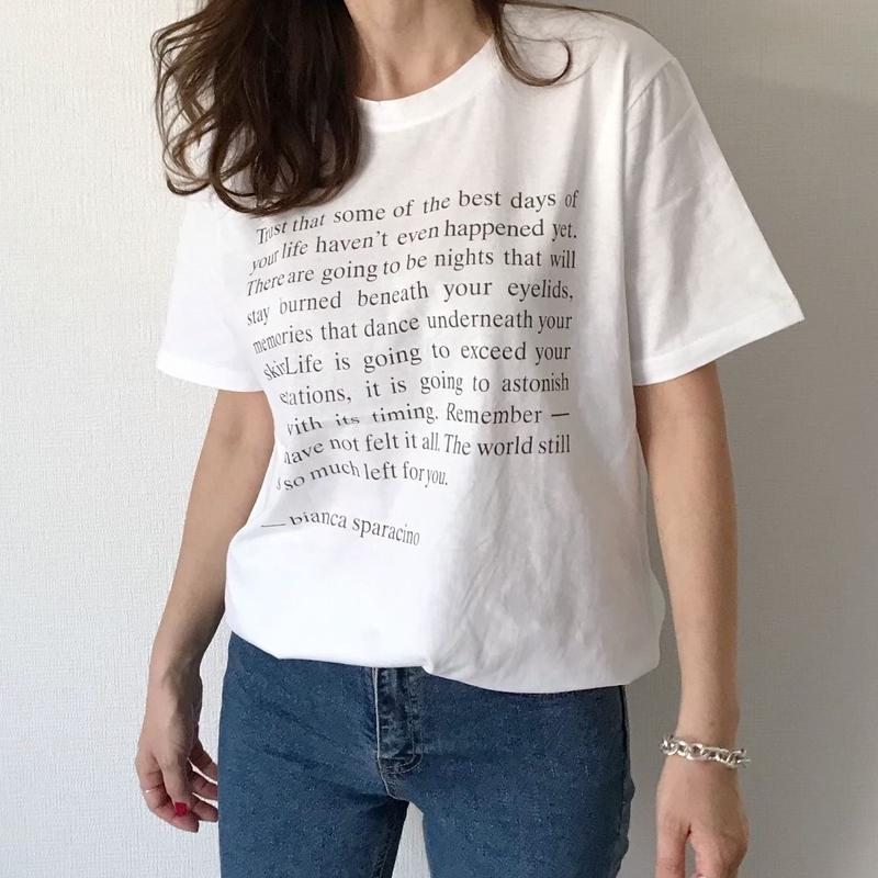 lettering t-shirts