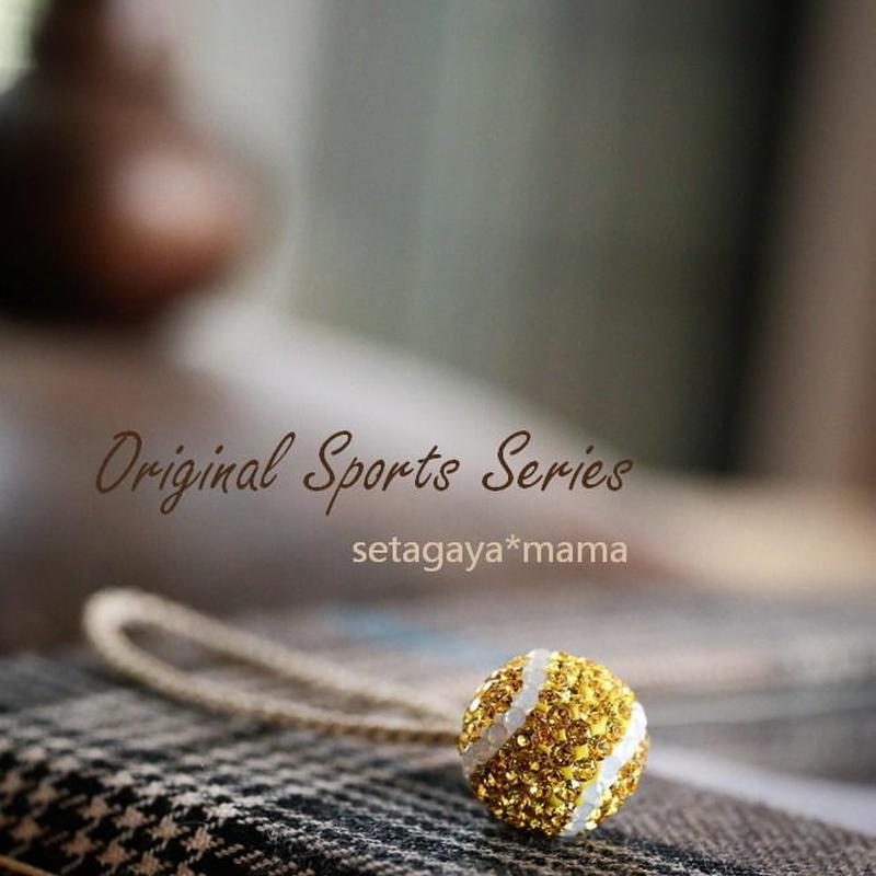 Mint&Silkテニス・野球の応援ママグッズ!スワロフスキー・スポーツシリーズ ストラップ