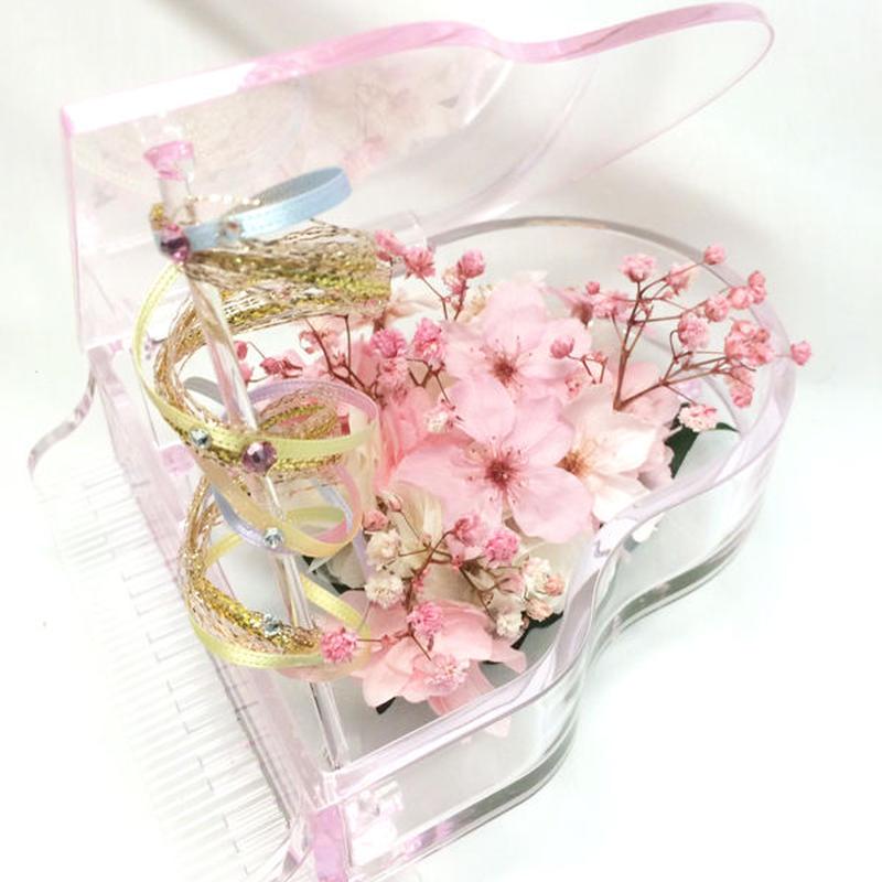 【プリザーブドフラワー/グランドピアノシリーズ】桜の優しく優美なメロディー【限定商品 】