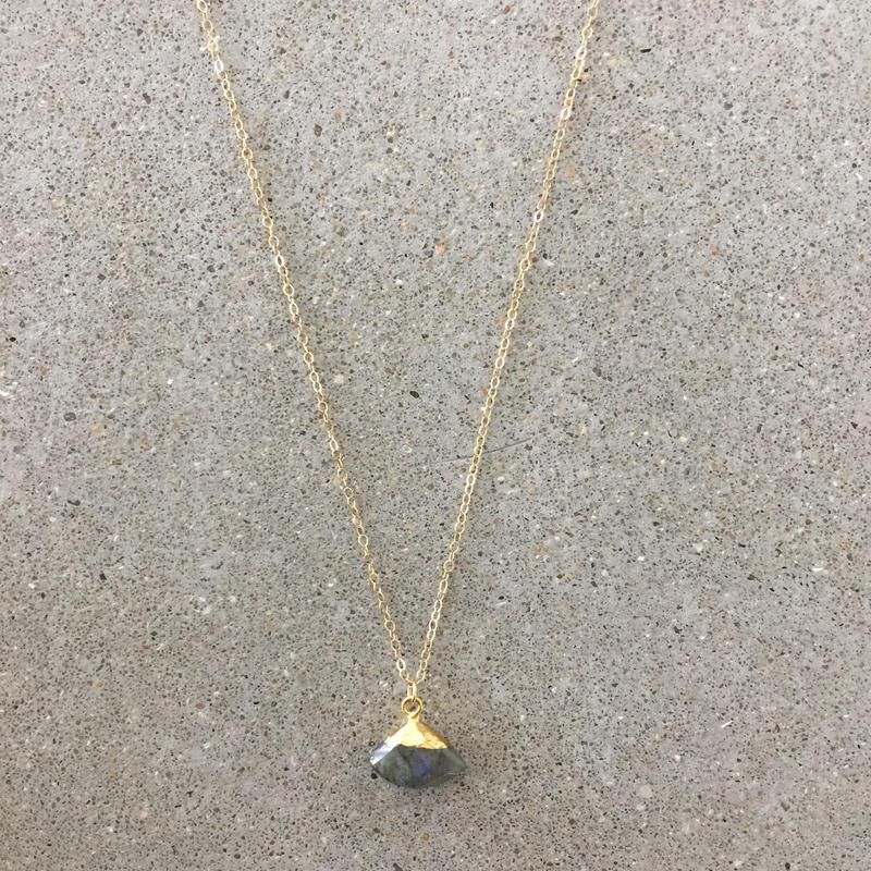 14kgf  hand made necklace(labradorite03)
