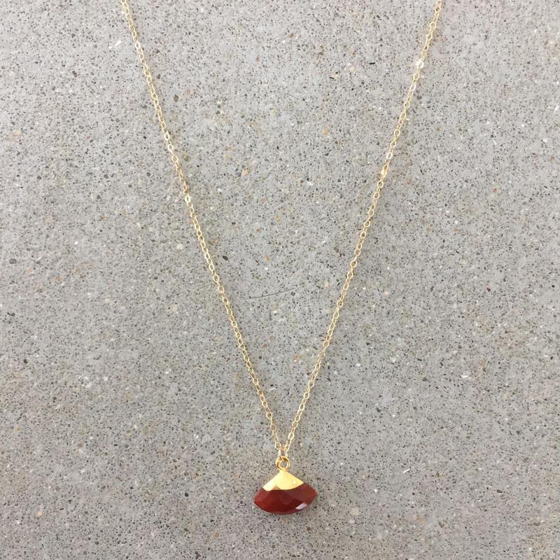 14kgf  hand made necklace(carnelian)