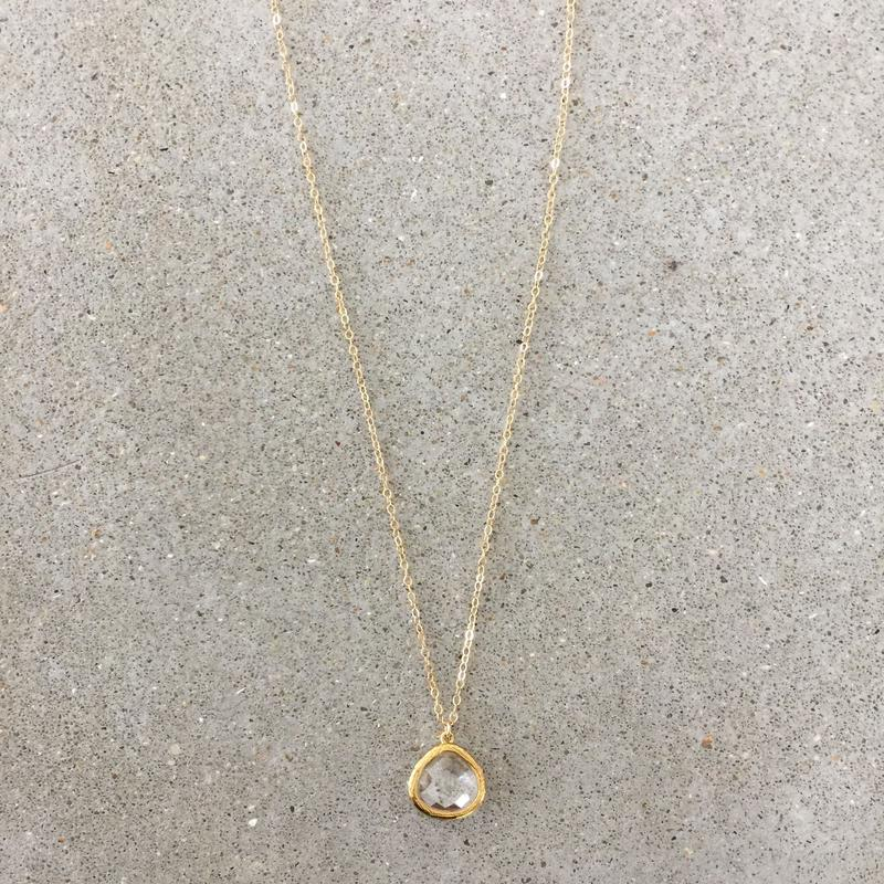 14kgf  hand made necklace(crystal)
