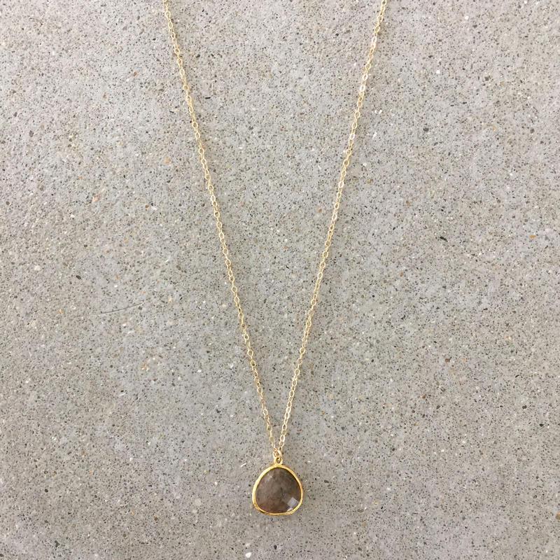 14kgf  hand made necklace(labradorite02)