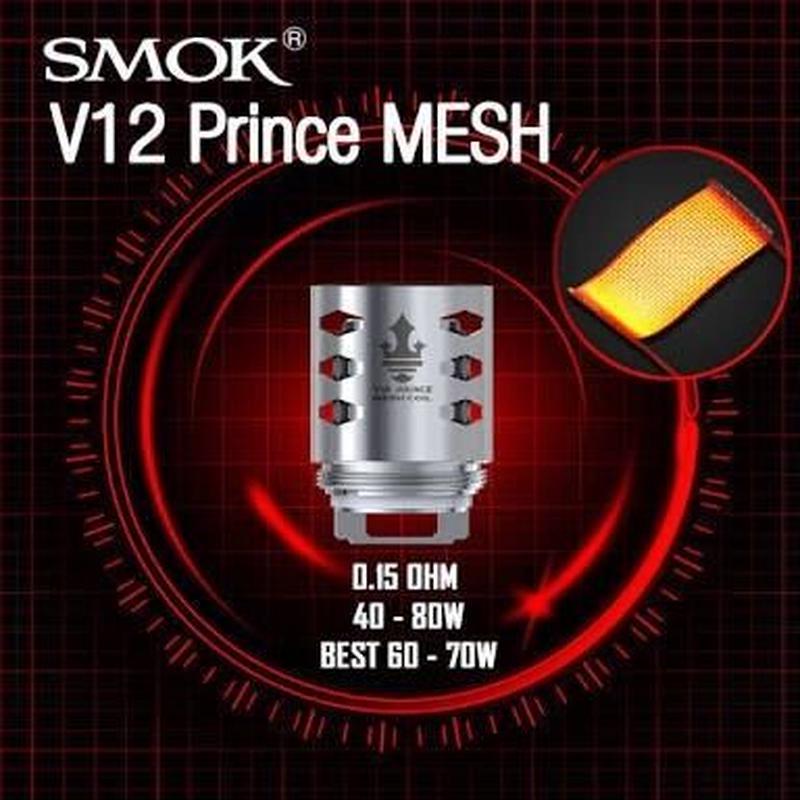 SMOK TFV12 Prince コイル X2 Clapton & mesh