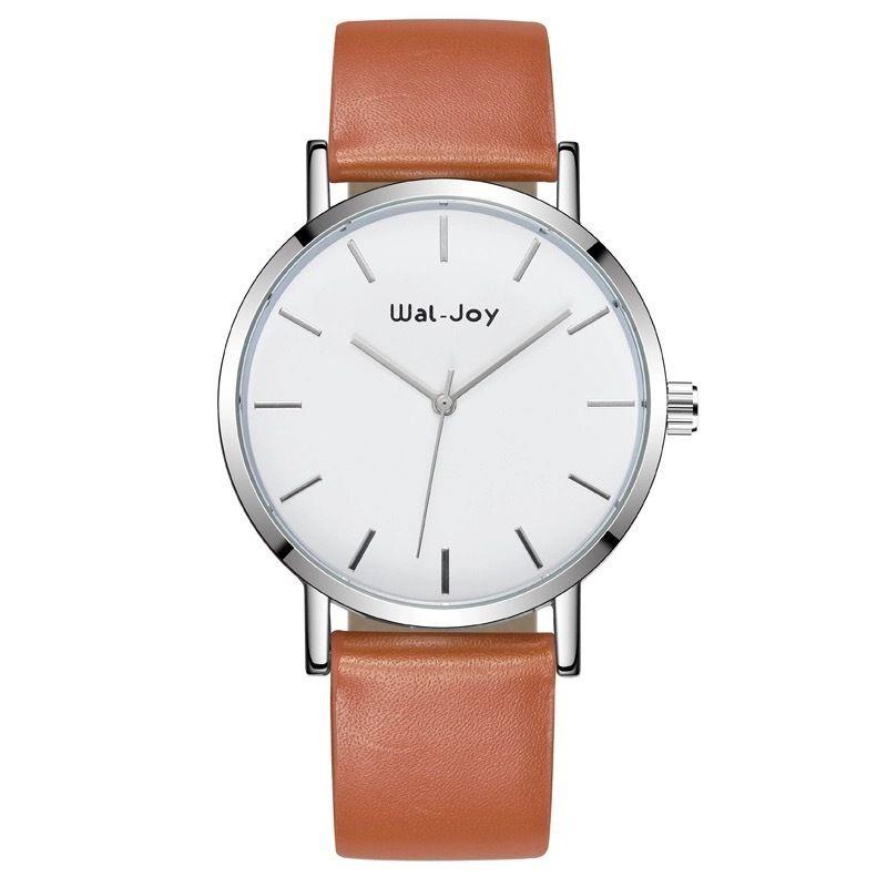 Wal-Joy 腕時計 革バンド ブラウン×ホワイト