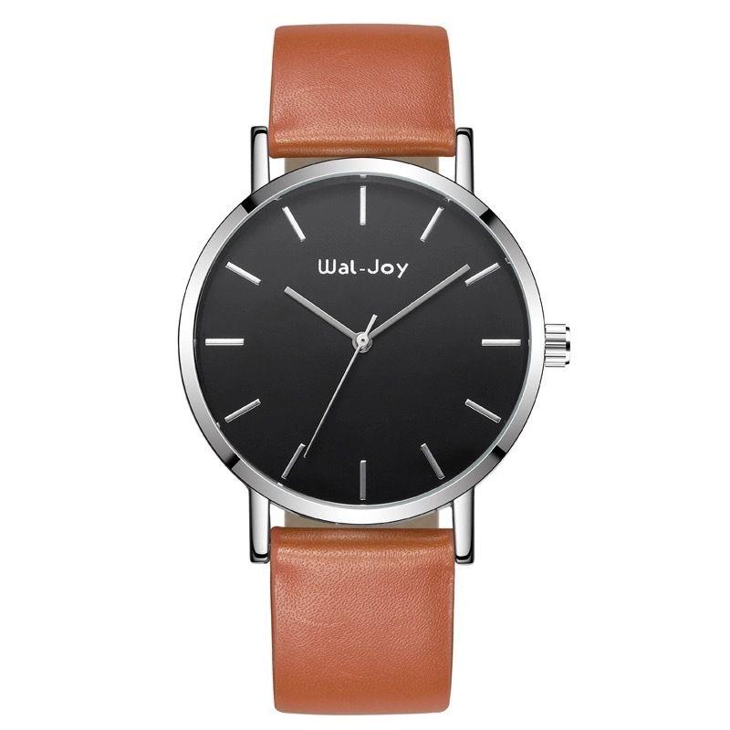 Wal-Joy 腕時計 革バンド ブラウン×ブラック