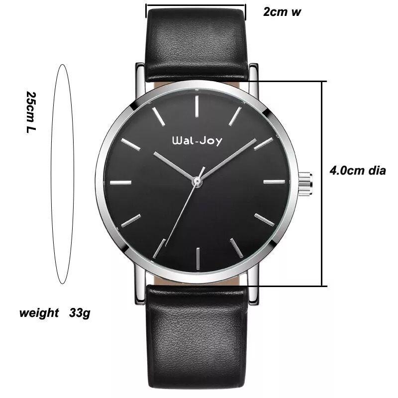 Wal-Joy 腕時計 革ベルト ブラック