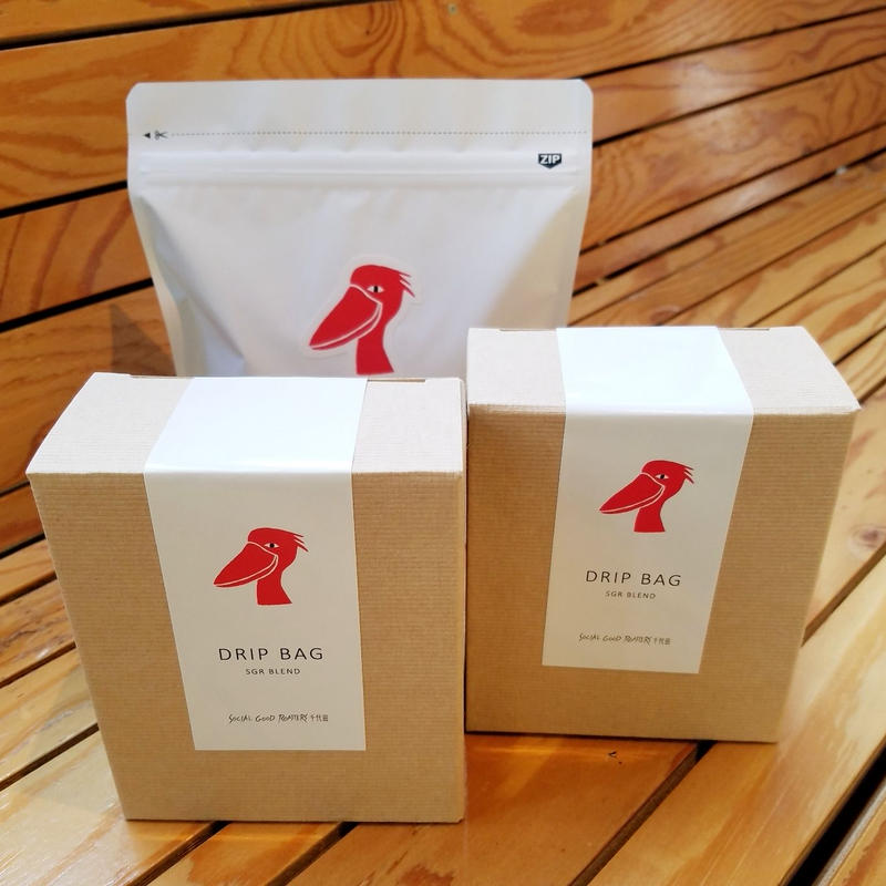 SOCIAL GOOD ROASTERS BLEND (200g/袋 )とオリジナル・ドリップバック【ボックス・5個セット】×2