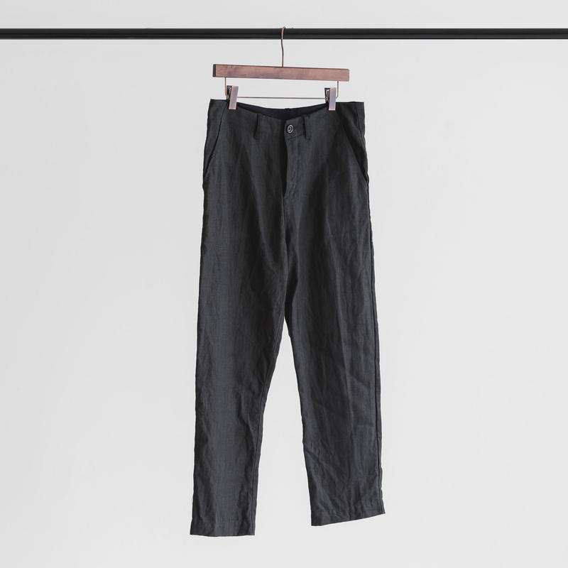 Linen weather cloth set up pants (ink black)