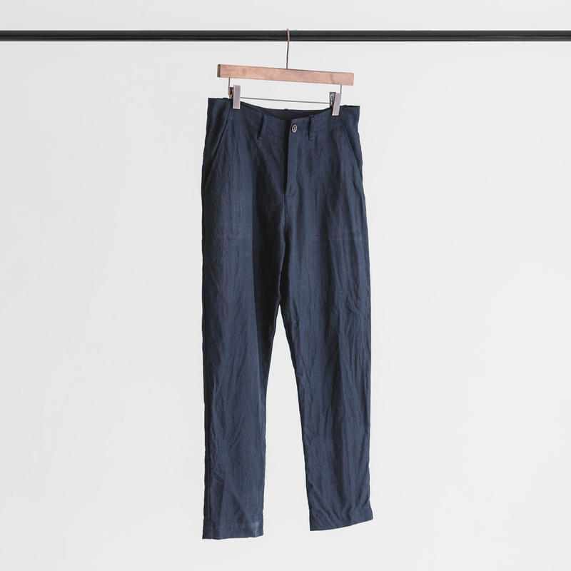 Linen weather cloth set up pants (navy)