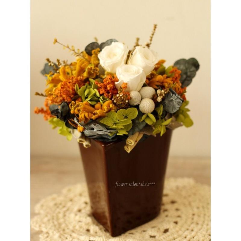 【セミオーダーメイド】テーブルアレンジ(ハート型花器)