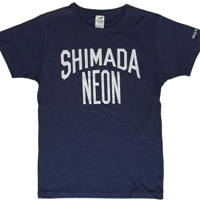 シマダネオン Tシャツ(navy x white)
