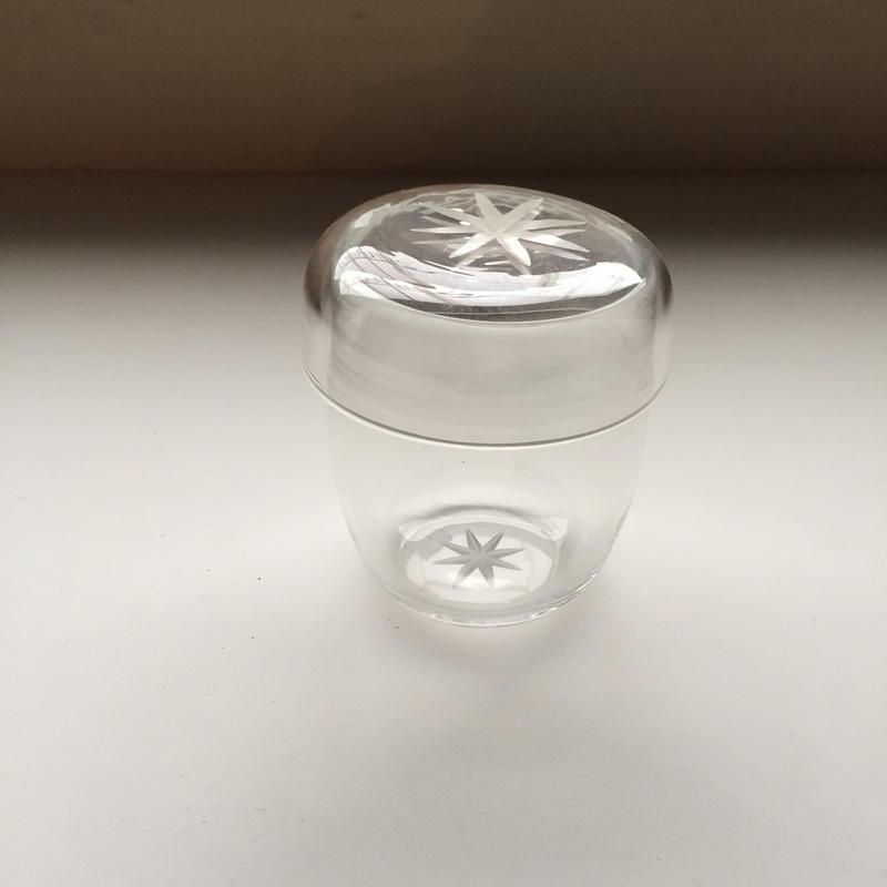ガラスの蓋物 小