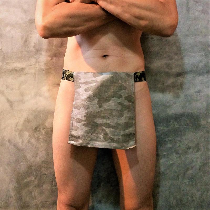 """ふんどし【麻蚕スーパーソルジャー】 """"Asa-Gaiko Super Soldier""""忍×Samurai Underwear (素材:麻絹/Hemp+Silk)"""