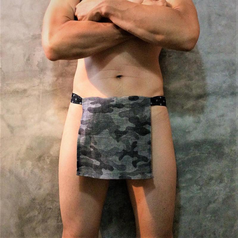 """ふんどし【麻蚕モノトーンソルジャー02】""""Asa-Gaiko Monotone Soldier02"""" 忍×Samurai Underwear (素材:麻絹/Hemp Silk)"""