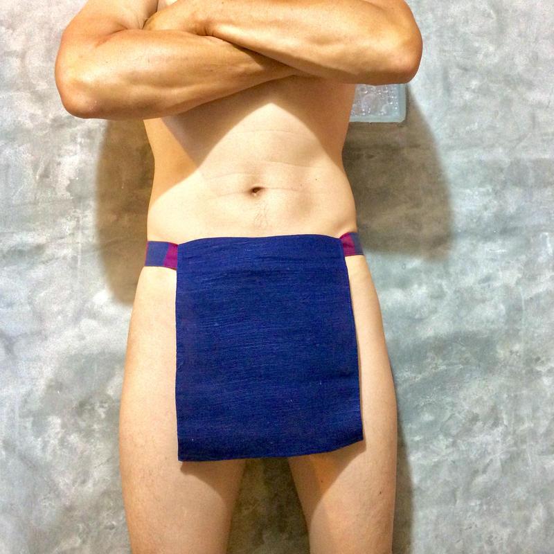 ふんどし【チェンマイ手織綿紺01】 ShiNoBi Samurai Under Wear Navy Homespun Cotton01