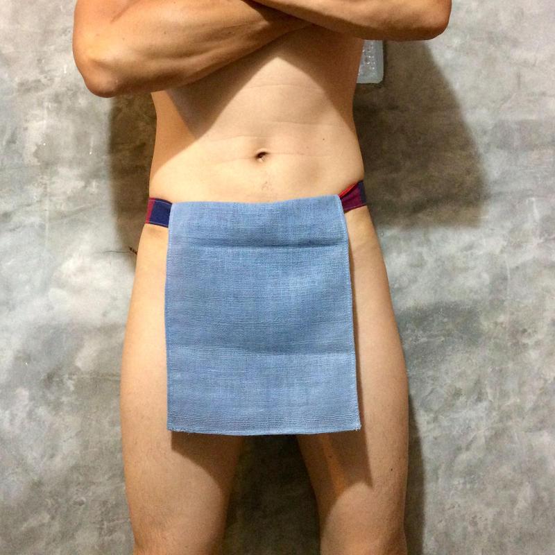 ふんどし【チェンマイ手織綿グレイ01】ShiNoBi Samurai Under Wear Homespun Cotton Gray01