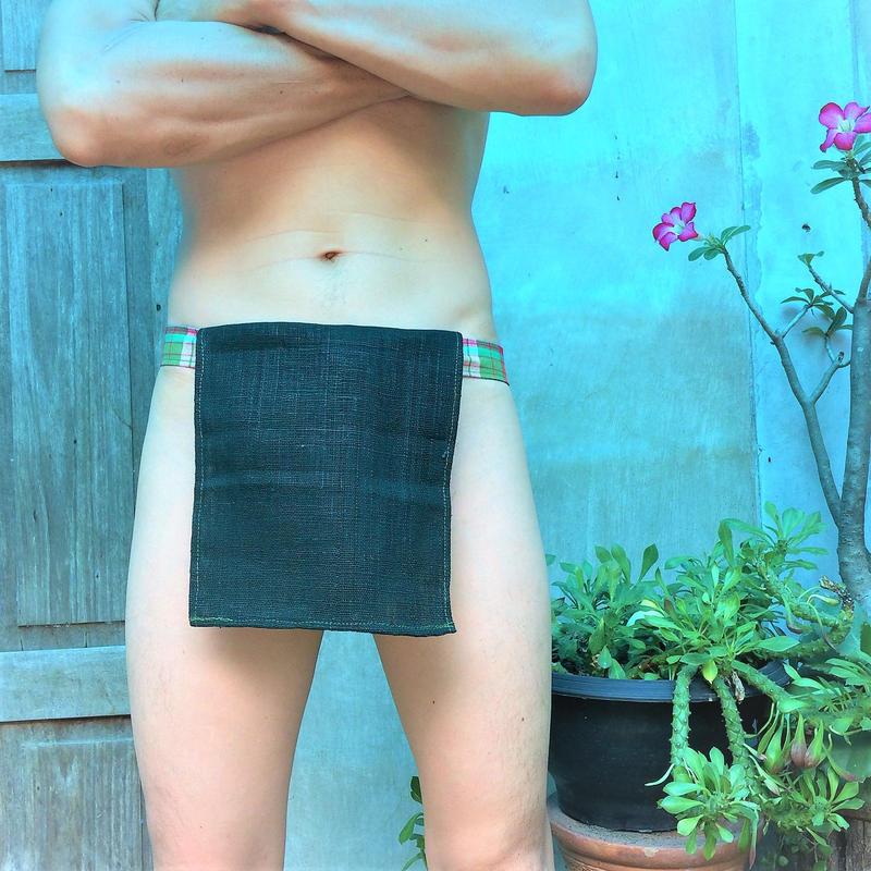 ふんどし 【チェンマイ手織綿深緑01】ShiNoBi Samurai Under Wear Homespun Cotton Dark Green01