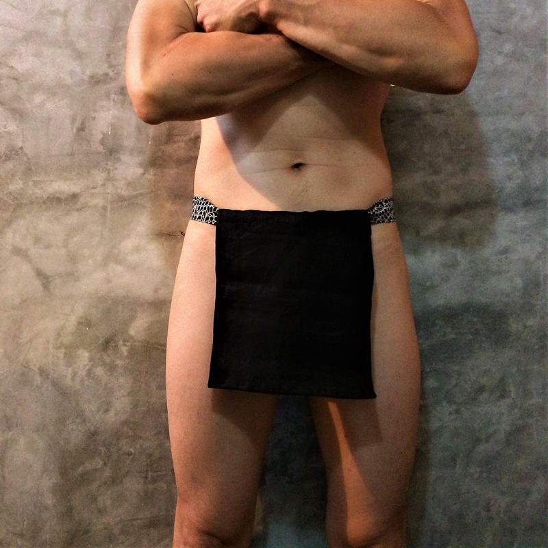 """ふんどし【リネンインブラック】 """"LINEN-IN-BLACK""""06 忍褌×ShiNoBi Samurai Underwear (素材:ピュアリネン)"""