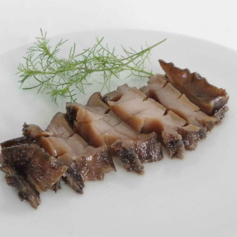 韓国料理研究家・崔誠恩先生のレシピで作った、蝦夷あわび肝醤油浸け煮あわび 1個(110g)   無化調