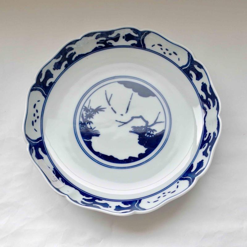 有田焼の蟹松ディナー皿