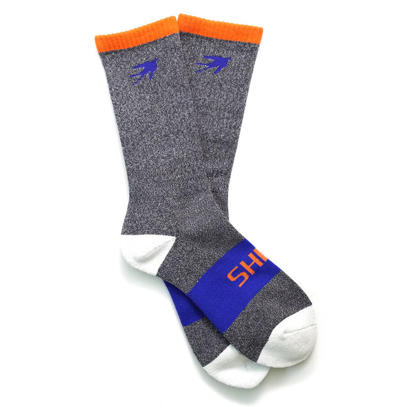 SHIRL SPORTS PILE SOCKS   ( CHAC/WHT/BLUE) (SH171601CWB)  MADE IN JAPAN