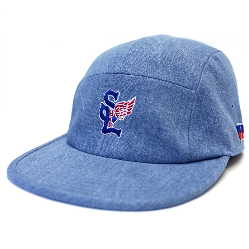 SL WING INDIGO DENIM COMFORT-5 CAP (WASH LIGHT BLUE DENIM) made in japan (SH180111WLB)