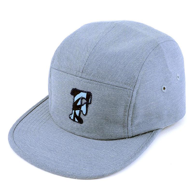 "[WAIF ONE x SHIRL]コラボ ""F""  COMFORT-5 CAP (MIX BLUE) made in japan (SH160107WAF)"