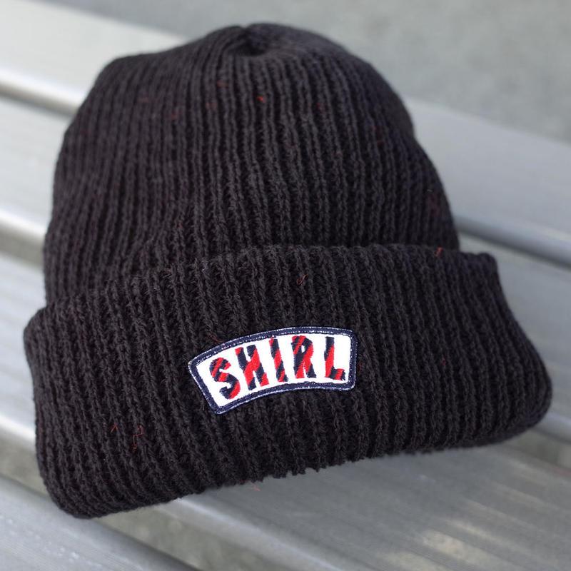 Stripe Arch Black Watch cap  (BLACK) SH180613BLK