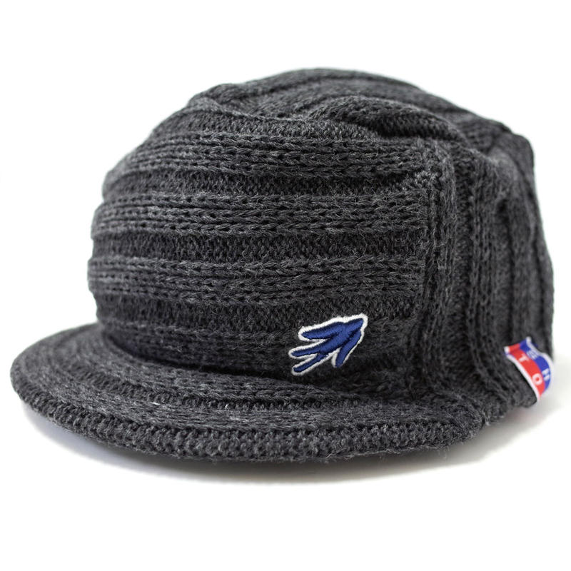 VISOR OUTLAST KNIT CAP  (MIX CHARCOAL) Made in Japan (SH160607CHA)