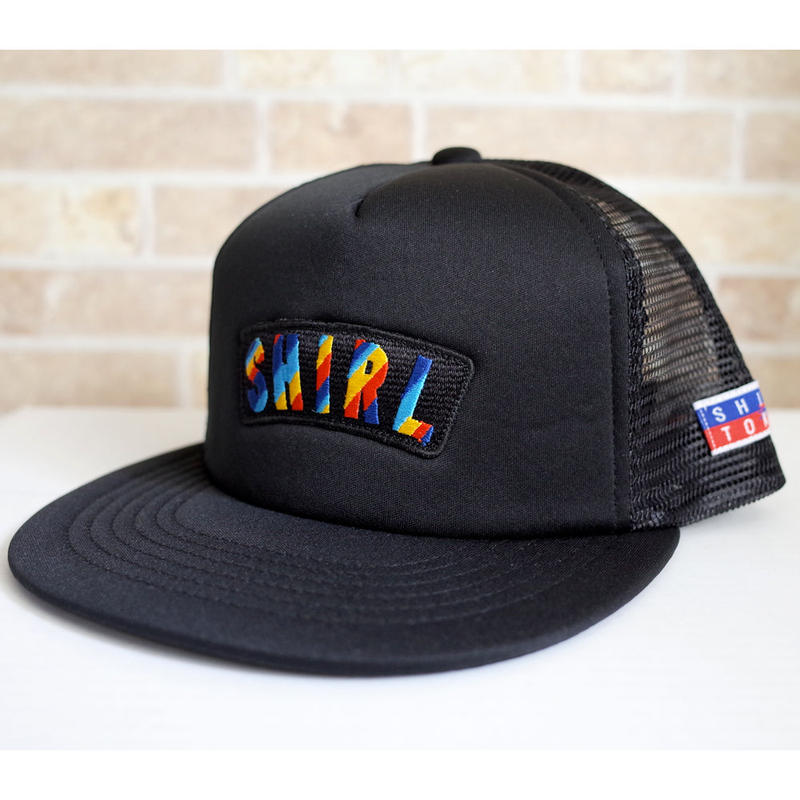 RAINBOW ARCH  MESH CAP (BLACK)(SH180313BLK)