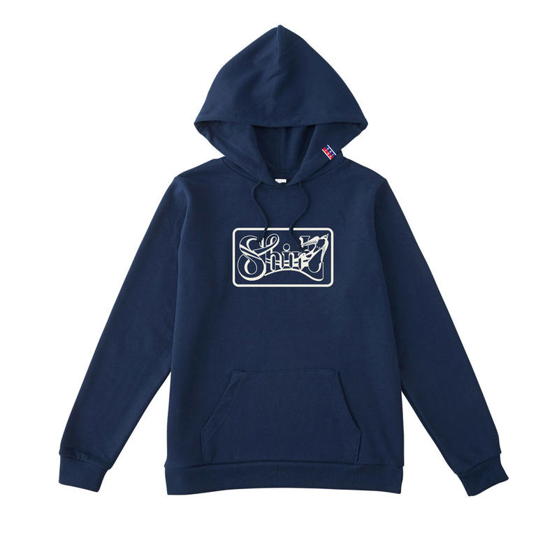 SHIRL BOX  LOGO HOODED パーカー  ( NAVY)(SH161301NVY)