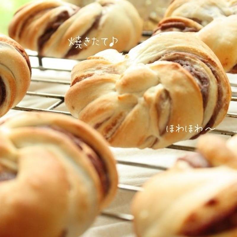 【発送時期  3月上旬〜3月中旬】あずき花パン/1set 2個