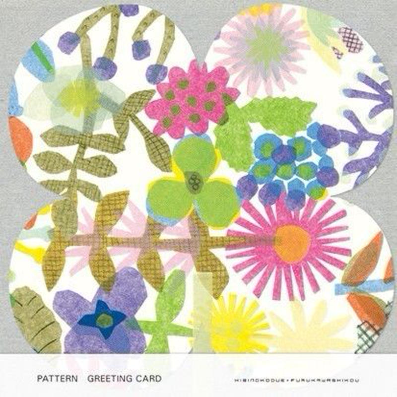 POL066 PATTERN GREETING CARD FLOWERS