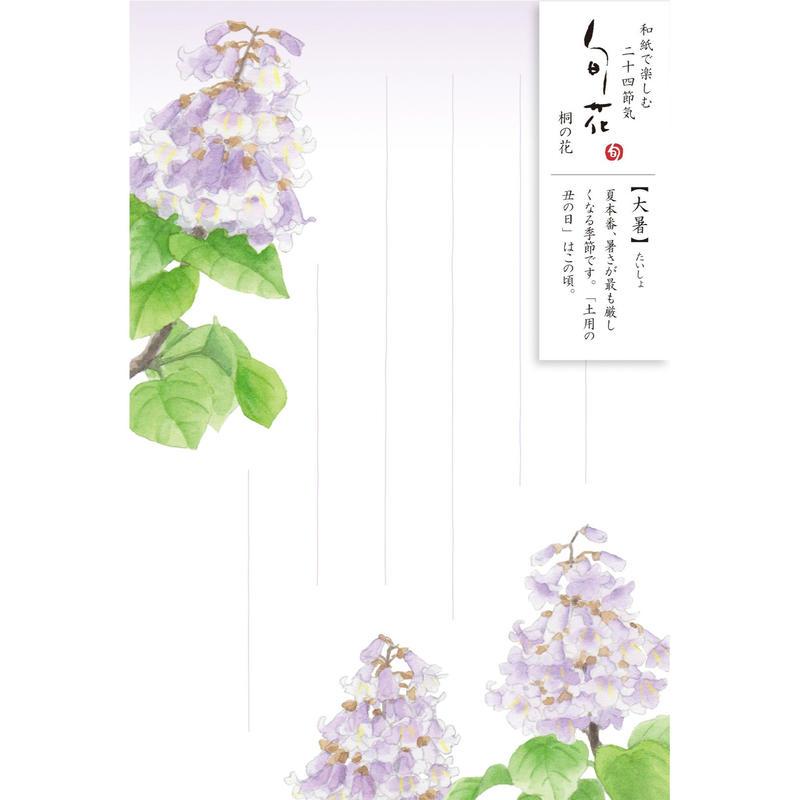 HK110旬花 はがき 桐の花