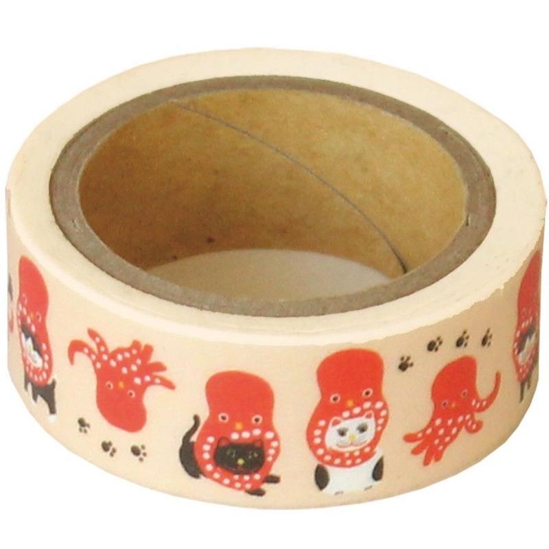 QMT11 和にゃんこ ますきんぐテープ たこネコ