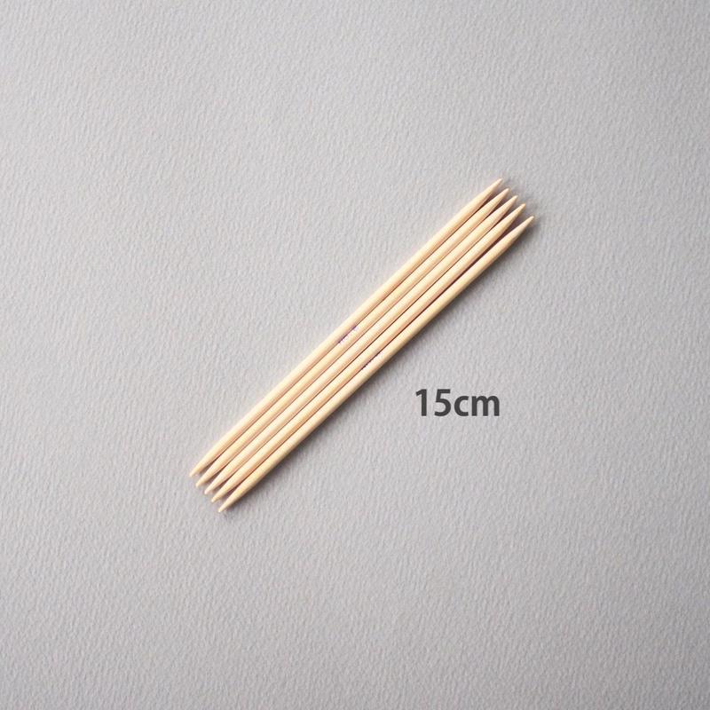 <ツール>編み針:5本棒針15cm、2〜6/8/10号(ノーブランド)