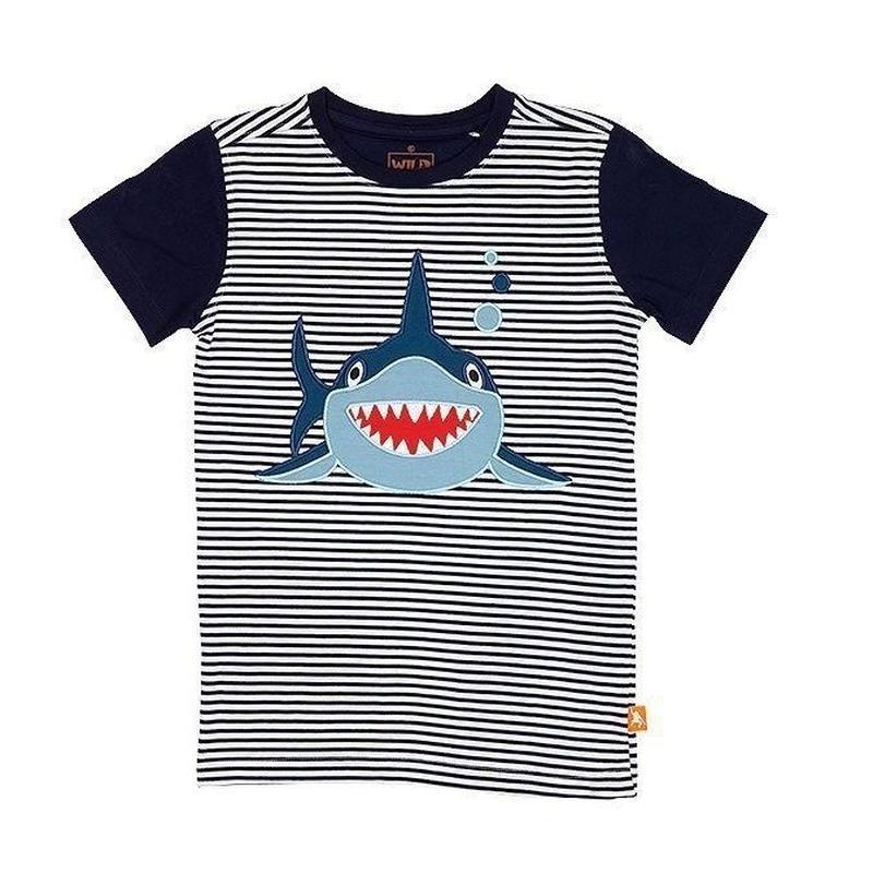 キッズ Tシャツ シャーク 100%オーガニックコットン GOTS認定