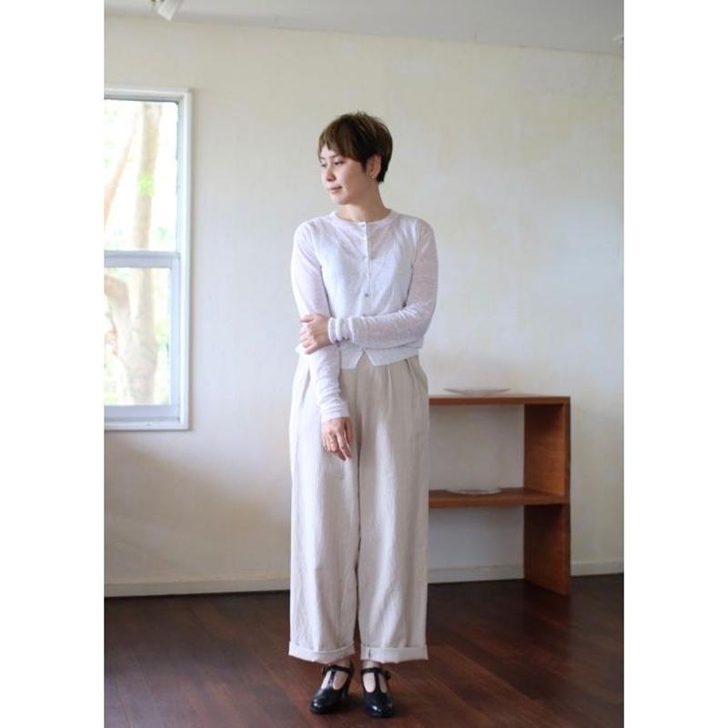 humoresque wide pants(linen cotton)- beige -