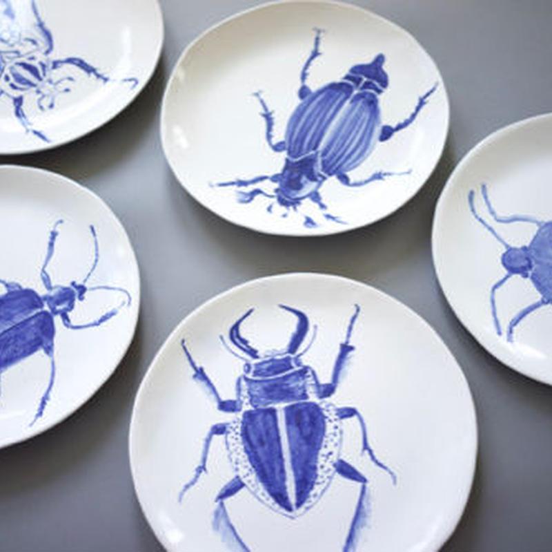 Magda Weldon 昆虫の絵皿 - M -