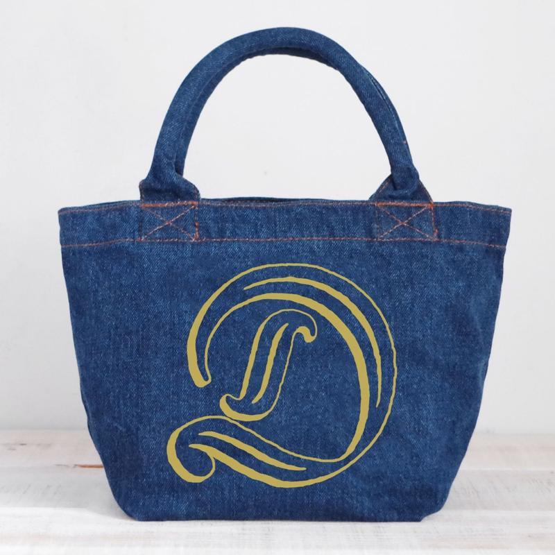 Organic Denim Tote D / Ginger Beach Inn Original