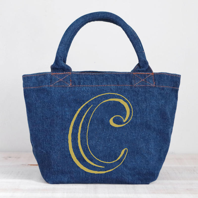 Organic Denim Tote C / Ginger Beach Inn Original