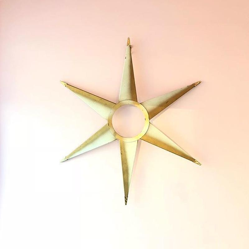 Midcentury  Sunburst Wall Decor