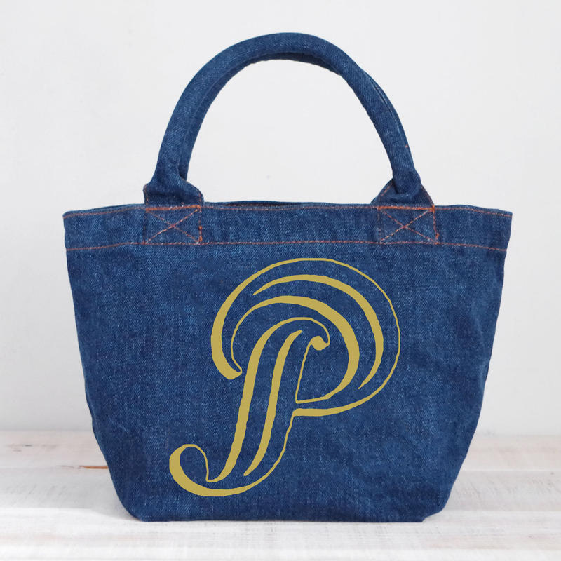 Organic Denim Tote P / Ginger Beach Inn Original